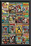 Iron Man comic covers poster framed
