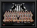 Collingwood Magpies 2017 Team Poster Framed