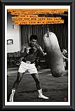 Muhammed Ali Punchbag poster framed