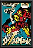 Iron Man shoosh framed poster