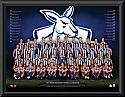 North Melbourne Kangaroos 2017 Team Poster Framed