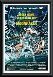 James Bond Moonraker poster framed