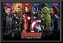 The Avengers Age of Ultron team  framed poster