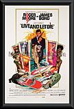 James Bond Live and Let Die poster framed