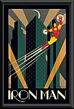 Iron Man deco poster framed