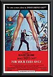 James Bond For Your Eyes Only poster framed