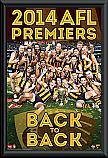 2014 Hawthorn Hawks Premiership framed poster