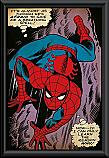 Spiderman breathing spell poster framed