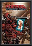 Deadpool bang poster framed