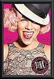 Pink Australian Tour Poster framed