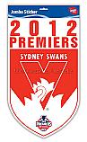 Sydney Swans 2012 Premiership large sticker