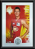Gold Coast Suns Hero Nathan Bock signed