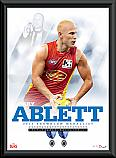 2013 Gary Ablett Brownlow Medallist framed Poster