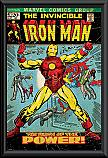 Iron Man birth of power Comic Cover poster framed