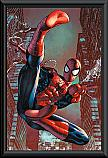Marvel Comics Spiderman webslinger poster framed