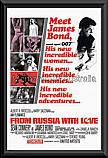 James Bond From Russia With Love poster framed